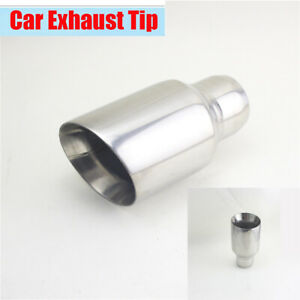 """2""""/2.5"""" - 3"""" Chrome Stainless Steel Double Wall Exhaust Pipe Tip For Car Vehicle"""