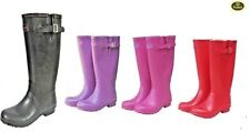 Ladies WETLANDS Classic Wellington Boots Wellies Pink Black Plum Red New Size