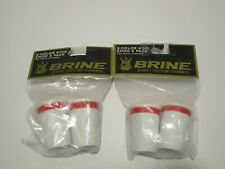 New Brine Men's Lacrosse Butt Ends White & Red