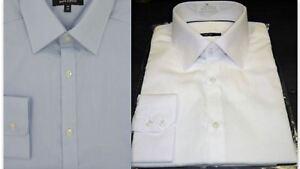 Mens Dress Shirt Slim Fit Luxury Pure Cotton Long Sleeve