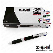 "Zebra Z-Quad - Four Colour ""4in1"" Retractable Ballpoint Pen - 1.0mm - Box of 12"