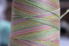 YARN for Bobbin LACE - 100 Grams Cone - 100% Silk - Hand Dyed Multi Color - M7