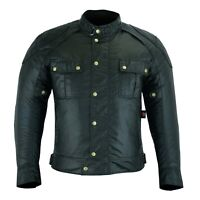 ARN® Classic Motorcycle Waxed Cotton Motorbike Vintage Jacket Textile CE Armours