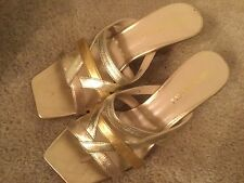 Bruno Magli Sandal Color Gold Strap Made In Italy 35 1/2