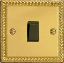 Decor Polished Brass 1 Gang 2 Way Single Switch Metal Rocker 6 Amp H660454
