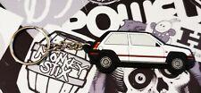 Renault 5 Gt Turbo Key Anello Phase 1 White