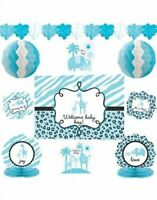 10 Pieces - It's a Boy Baby Shower Decorating Kit - Sarari Jungle Theme (#1248)