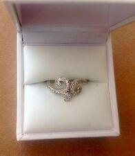 Thomas Sabo anillo blanco loveknot amor nodos como nuevo ne148 original caja
