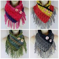 Simply Elegant crochet neck warmer fringe scarf craft shows PATTERN ONLY