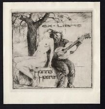 42)Nr.132-EXLIBRIS,Eduard Winkler,  People without clothes, C3-Radierung