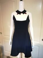 Ted Baker London MIYYLEE Collared bib dress in Navy $295 NEW fit and flare