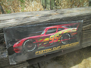 Disney CARS LAND piston Cup Champion Lightning Mcqueen Embossed Metal Sign CARS