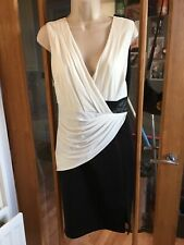 Gorgeous Black And White Lipsy Dress - Size 12 - Worn Once