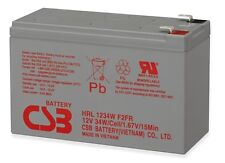 "New 2017 HRL1234WF2FR CSB High Rate 12V 34W SLA Battery w/ .25"" F2 Terminals"