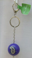 "Vera Bradley Have A Ball Keychain in ""SIMPLY VIOLET"" NWT/NIP Smoke Free Home"