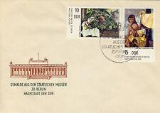 Ersttagsbrief DDR MiNr. 2001, 2002, Staatliche Museen Berlin: Gemälde