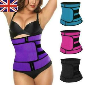 UK Women Waist Trainer Vest Gym Slimming Adjustable Sauna Sweat Belt Body Shaper