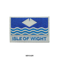 ISLE OF WIGHT County Flag With Name Embroidered Patch Iron on Sew On Badge