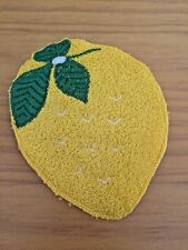 Vintage Yellow Lemon Patch Applique Sewing Terry Cloth 1960's New Old Stock