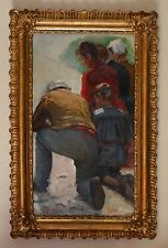 """GRIVOLAS Pierre (1823-1906) """"Famille en prière"""" Avignon Provence Comtadine"""