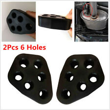 2Pcs 6 Holes for Car SUV Exhaust Rubber Tail Pipe Mount Bracket Hanger Insulator