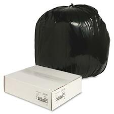 """Nature Saver Trash Can Liners Rcycld 40-45 Gal 1.25mil 40""""x46"""" 100/Bx Bk 00990"""