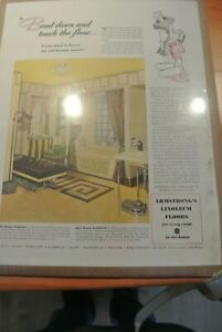 """Armstrong Linoleum """"Bend Down and Touch the Floor"""" 1940 Ad"""