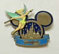 Disney Pin Badge WDW - Cinderella Castle in Mickey Icon - Tinker Bell