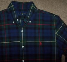 NWT Ralph Lauren Navy/Green/Red/Yellow CLASSIC Plaid Shirt S Men's POLO PONY