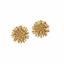 Authentic Tiffany&Co 750 18k Yellow Gold Flower 23mm Clip Earring's
