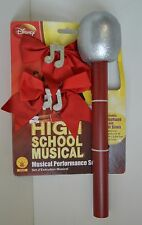 High School MUSICAL Microphone Musical Notes Hairbow HSM Costume NEW Collect