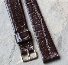 Vintage Gruen watch 17.5mm New Old Stock band crocodile grain leather 4 sold