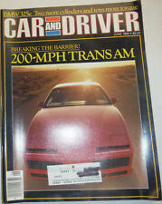 Car And Driver Magazine 200 MPH Trans Am June 1984 032515R