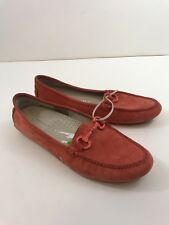 Patricia Green NEW Orange Elizabeth Shoes Size 8M Moccasins Suede