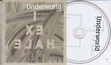 UNDERWORLD  EXHALE  RARE 2 TRACK PROMO CD  [Karl Hyde]
