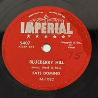 """Fats Domino Blueberry Hill / Honey Chile 78 RPM 10"""" Vintage 1956 Imperial 5407"""
