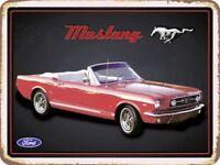 Ford Mustang Panneau Métallique Plaque Voûté Signe en Étain Métal 30 X 40 CM