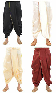 Indian Men's Silk Dhoti Traditional Ethnic Wear 100%Dupion Silk Free Size Dhoti