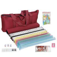 American Mahjong Set with 166 Tiles|Racks with Push|Betting Coins|Dice & Bag