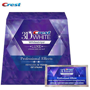 Crest 3D White Luxe Strips Professional Effects 7 Pouches