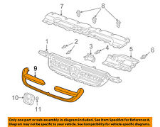 HONDA OEM 02-04 CR-V Grille Grill-Molding Trim or Surround 71122S9A003