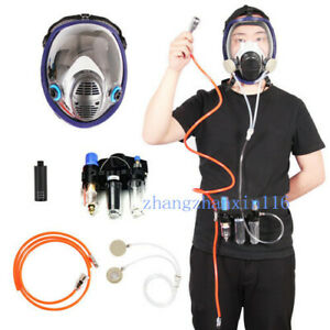 Painting Safety Supplied Air Fed Respirator System 6800 Full Face Gas Mask
