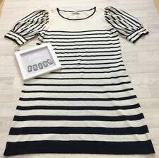 Marks & Spencer Autograph 16 Silk Blend Jumper Dress Short Sleeved Striped