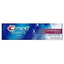 Crest 3d White Luxe Glamorous Whitening Toothpaste Vibrant MINT 4.8oz 136g