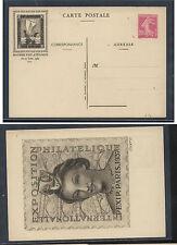 France  1937  stamp  show  postal  card 20 cnt   unused        APL1120