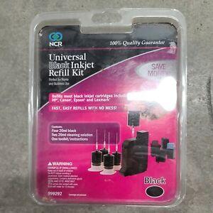 NCR Universal Ink Jet Black Refill Kit 999292-New