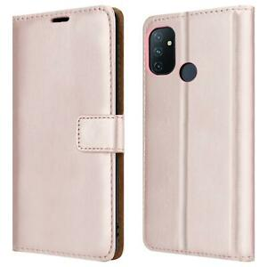 For OnePlus Nord N100 Case, Leather Wallet Phone Cover + Screen Tempered Glass