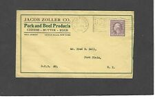 1918 JACOB ZOLLER CO.,LITTLE FALLS,NY ADVERTISING COVER-PORK & BEEF PRODUCTS