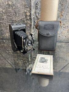 Kodak Vanity Vest Pocket Series Folding Camera with Original Case And Manual