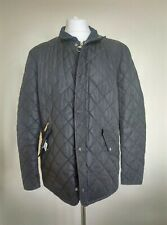 Mens Barbour Black Chelsea Sportsquilt Quilted Jacket Coat Extra large XL
